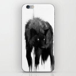 black dog iPhone Skin