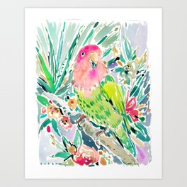 DUDE the Lovebird Art Print