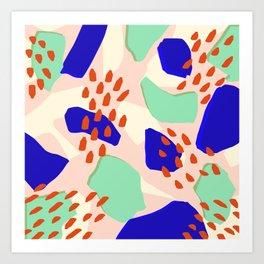 semillas rojas Art Print