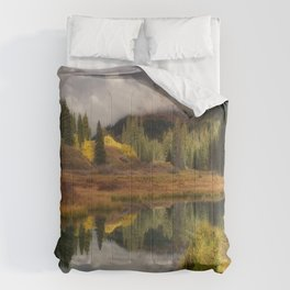 Transition Of The Seasons in Rocky Mountain Comforters