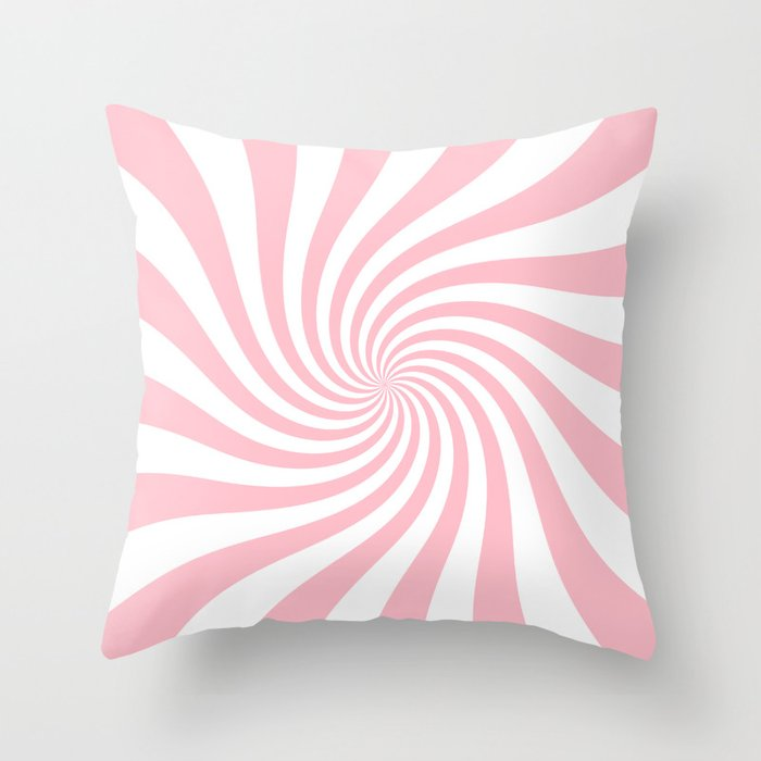 Swirl (Pink/White) Throw Pillow