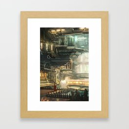 Underground Dystopia Framed Art Print