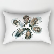 Oysters on the Half Shell Rectangular Pillow
