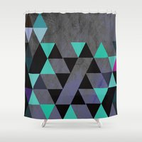 cracked Shower Curtains featuring Cracked Metal by Bakmann Art