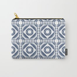 Mediterranean Tile Blue and White Carry-All Pouch
