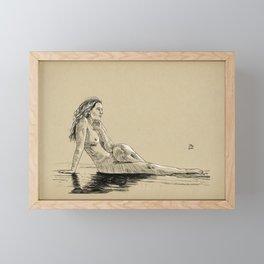 Model pose sketch 07 Framed Mini Art Print