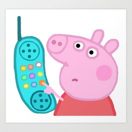 Peppa Pig Hang Up Art Print