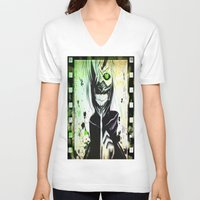 tokyo ghoul V-neck T-shirts featuring GHOUL by shannon's art space