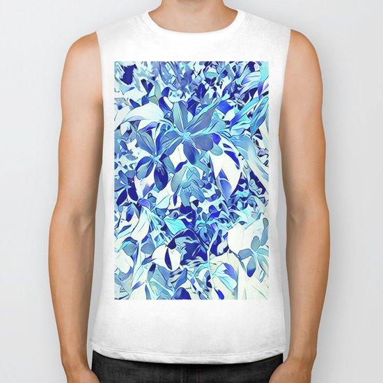 Blue sakura Biker Tank