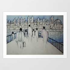 foot traffic 02 Art Print