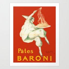 Vintage poster - Pates Baroni Art Print
