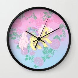 g1 my little pony flutter queen rosedust Wall Clock