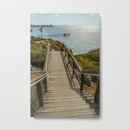 Ocean Artwork - Stairwell to the pier Metal Print