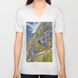 Steller's Jay (Canadian Blue Jay) in the forest Unisex V-Neck