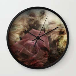 The canvoa Rose (copyright holder Elize K) Wall Clock