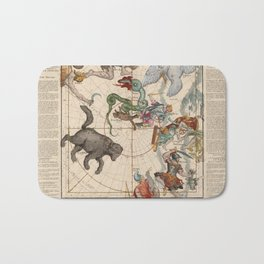 Ignace-Gaston Pardies - Globi coelestis Plate 1: Ursa Major, Ursa Minor, Perseus, and others Bath Mat