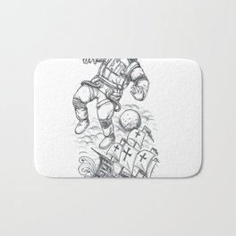 Astronaut Tethered to Caravel Tattoo Bath Mat