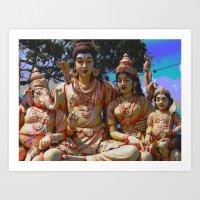 hindu Art Prints featuring Hindu Gods by BangBang