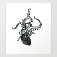 anatomy Art Prints featuring Anatomy by Kle-Ann