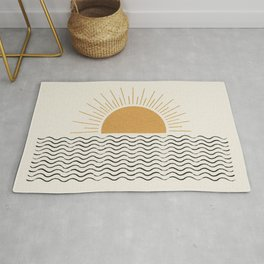 Sunrise Ocean -  Mid Century Modern Style Rug