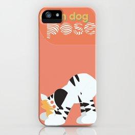 I Hatha Pose For You - Zebra iPhone Case