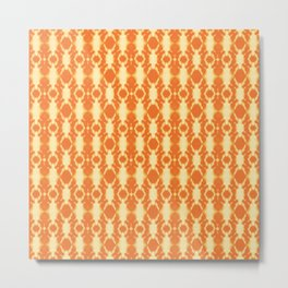 rotary tie-dye pattern in sunny yellows Metal Print