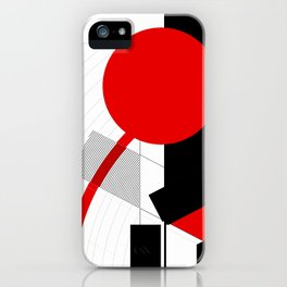 black and white meets red Version 16 iPhone Case