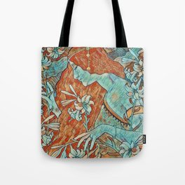 Art Noveau Portrait Tote Bag