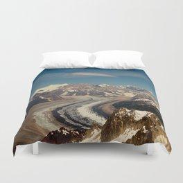 ALASKA I: Ruth Glacier beneath Denali ~ The Great One ~ Mt. McKinley Duvet Cover