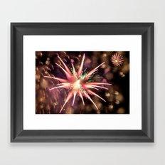 Fireworks - Philippines Framed Art Print