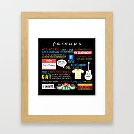 Friends Quote Collage Framed Art Print