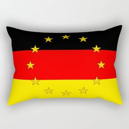 German European Union Flag Rectangular Pillow