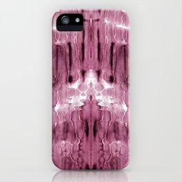 Mauve Moire' Shibori iPhone Case
