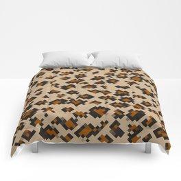 Pixelated Leopard Comforters
