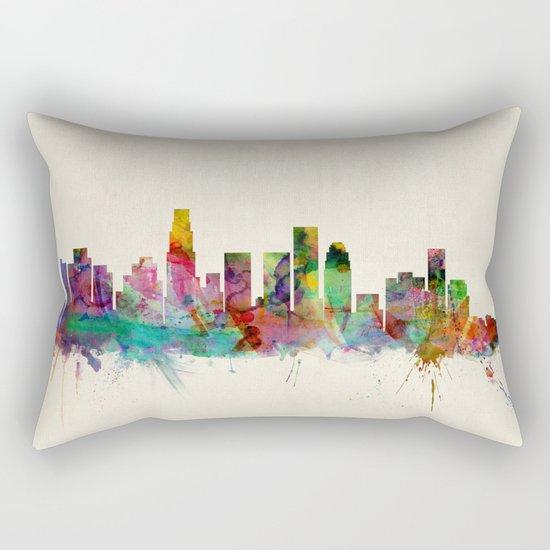 Los Angeles City Skyline Rectangular Pillow