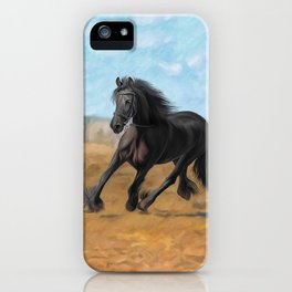 Drawing horse iPhone Case