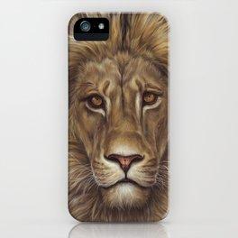 Animals | Lion Portrait | Nature | Painting | Art iPhone Case