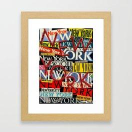 New York New York Framed Art Print