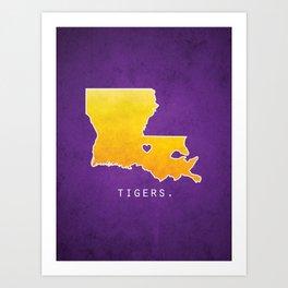 Louisiana State Tigers Art Print