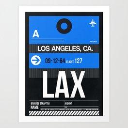 LAX Los Angeles Luggage Tag 3 Art Print