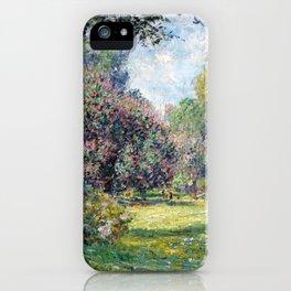 Claude Monet Landscape: The Parc Monceau iPhone Case