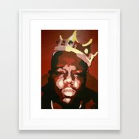notorious big Framed Art Prints featuring Notorious Big by The Art Of Gem Starr