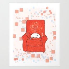 archie bunker nap Art Print