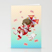 puppycat Stationery Cards featuring Bee and Puppycat by Artist Meli