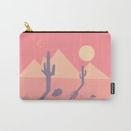 Vintage Desert Cutout Carry-All Pouch