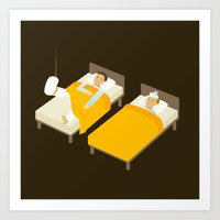 Sick In Bed Art Print