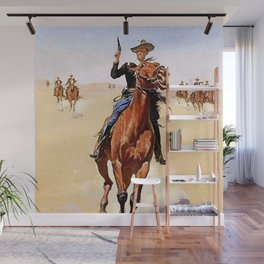 """""""The Trooper"""" Western Art by Frederick Remington Wall Mural"""
