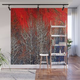 White Trees Wall Mural
