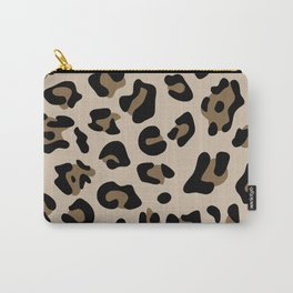 Big Beige and Brown Leopard Spots Carry-All Pouch