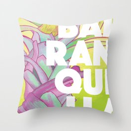 Baranquilla Travel Poster Throw Pillow